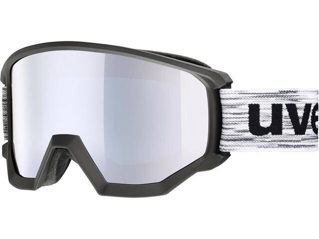 UVEX Athletic FM Masque, black mat/fullmirror silver
